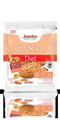 Cookies Integrais Diet Amêndoas com Castanha de Caju e Pará