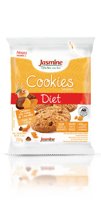 Cookies Integrais Diet Damasco com Gotas de Chocolate