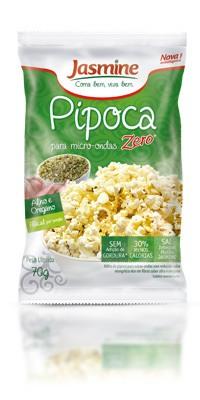 Pipoca Zero Alho e Orégano