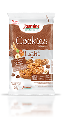 Cookies Integrais Light Avelã Com Gotas De Chocolate