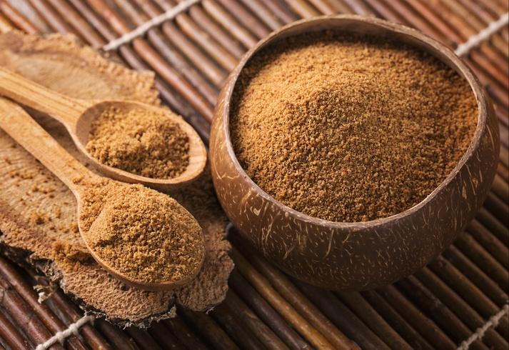 Adoçantes naturais: açúcar de coco