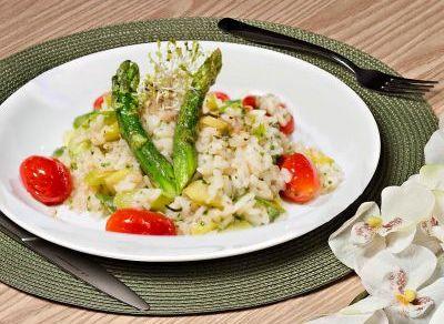 Receita Risoto de Quinoa com Aspargos