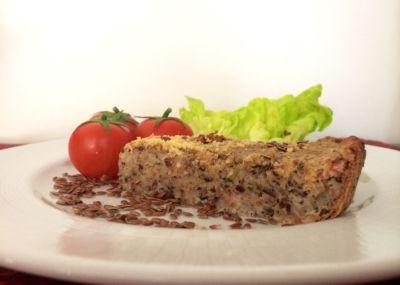 Receita de Torta de Linhaça, Atum e Ricota