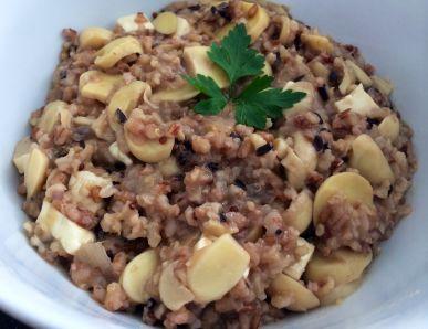 Receita de Risoto de 7 Grãos com Cogumelos
