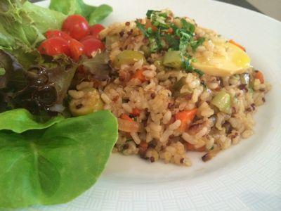 Receita de Arroz com Quinoa à Brasileira