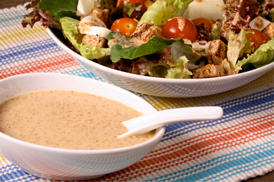 Receita de Molho para Saladas com Linhaça Dourada