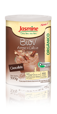 Biov em pó Arroz+Ca sabor Chocolate