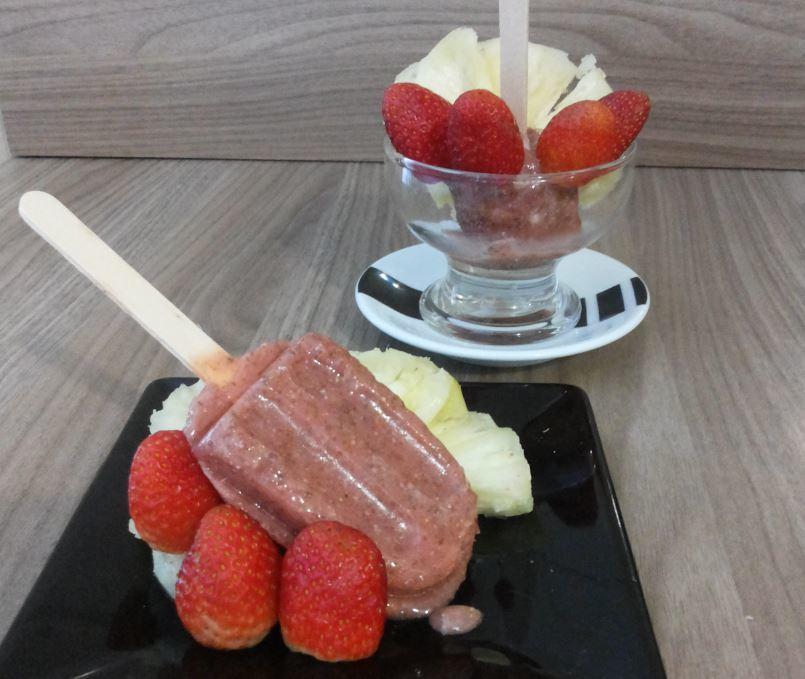 Receita de Picolé de frutas e Chia