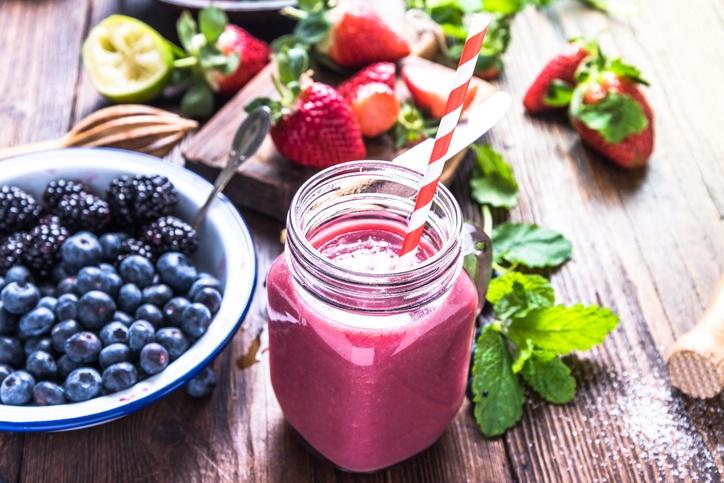 suco de frutas vermelhas