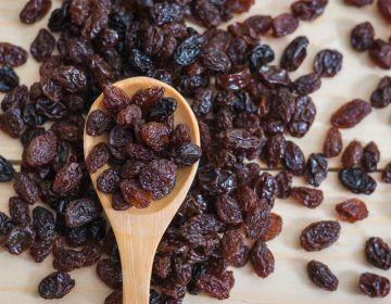 benefícios da uva passa