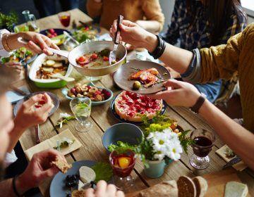 refeição com a família