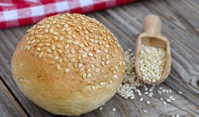 pão com gergelim