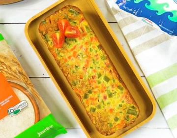 torta aveia legumes