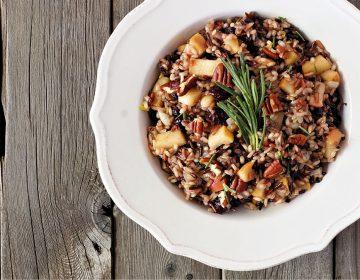 arroz com castanhas